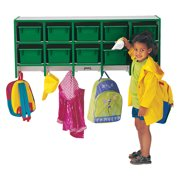 Rainbow Accents Coat Locker -large Wall Mount With Trays-Color:Yellow