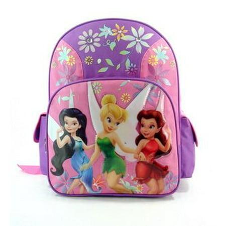 Backpack - - Tinkerbell Fairies Large School Bag New -