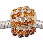 Buckets of Beads Rhinestone Charm Bead, Gold Sprinkles ()