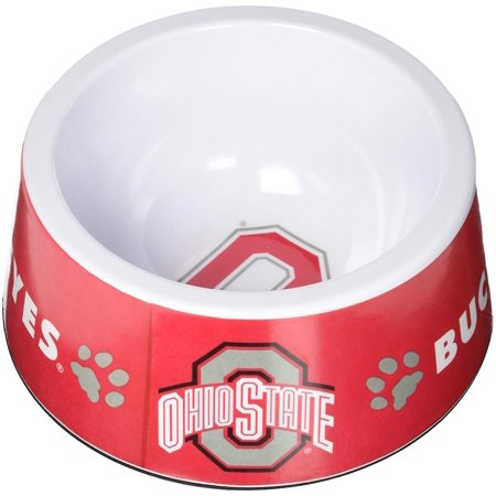 Collegiate Pet Bowl - Pet Bowl - Dog Bowl - Food Bowl - Water Bowl - Dog Pet Waterer - Ohio State Buckeyes