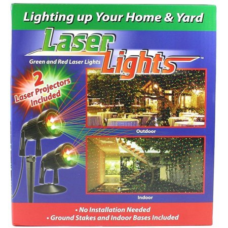 Alta Two Pack, Indoor & Outdoor, Green and Red Laser Light Projector