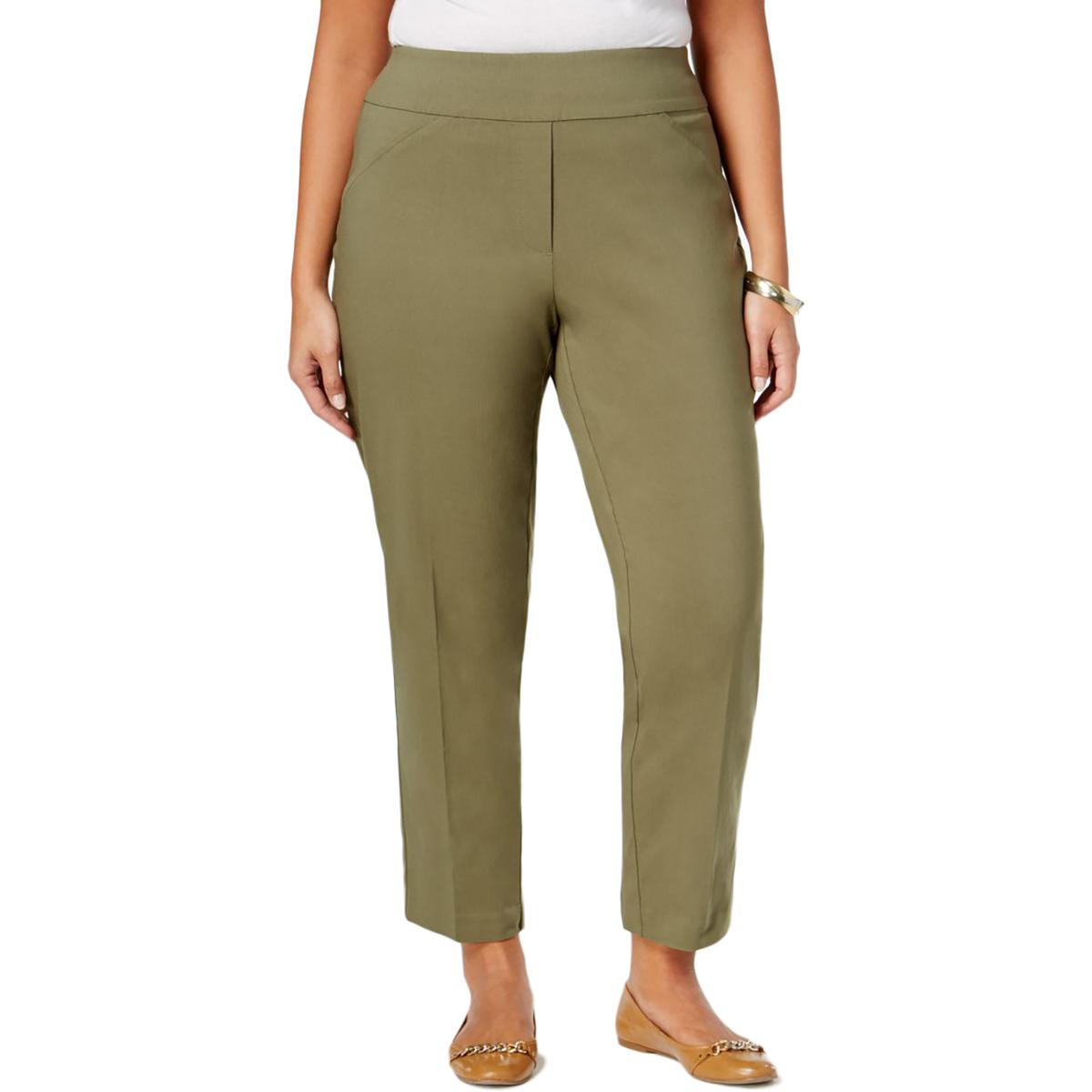 Alfred Dunner Womens Plus Allure Modern Fit Contoured Casual Pants
