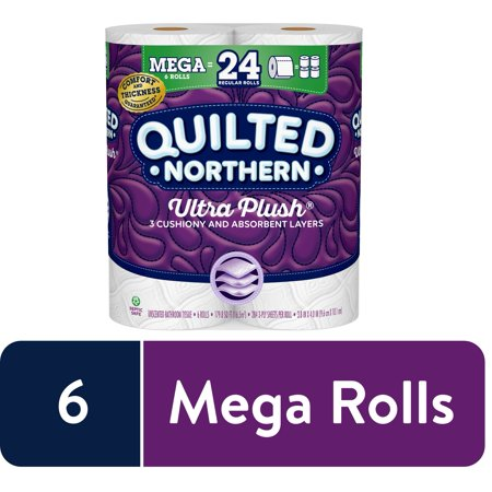 Quilted Northern Ultra Plush Toilet Paper, 6 Mega Rolls