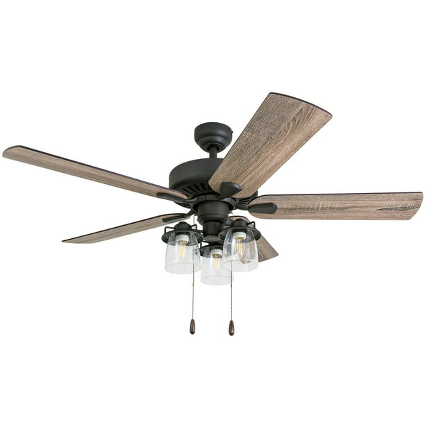 Prominence Home 50585 35 Briarcrest Farmhouse 52 Inch Aged Bronze Indoor Ceiling Fan With 5 Barnwood Tumbleweed Blades Walmart Com Walmart Com