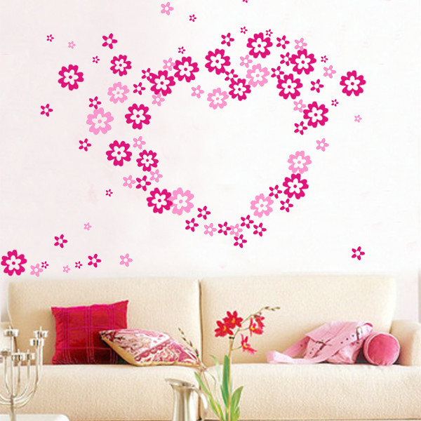 Removable DIY Vinyl Decal Mural Home Decor Butterflies Flowers Decals Stickers &amp Wall Art Stickers