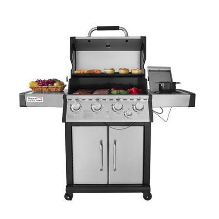 Royal Gourmet MG4001 4-Burner Propane Gas Grill with Side Burner, Stainless Steel, 60000 BTU