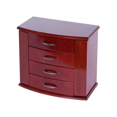 Sutton Upright Jewelry Box, Dark Burlwood Walnut Finish ()