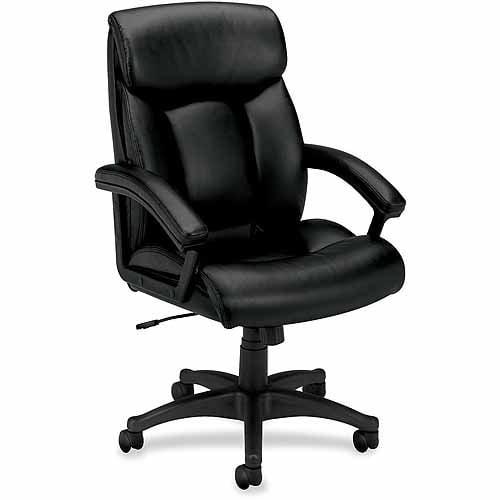 Basyx by HON VL151 High-Back Loop Arm Executive Chair, Black