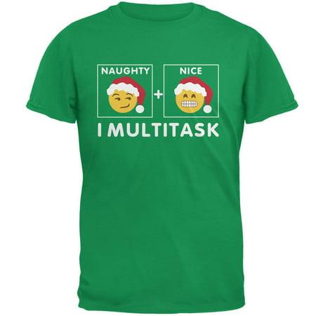 Christmas Naughty and Nice Multitask Irish Adult T-Shirt - Naughty And Nice Adult
