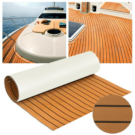 12 Colors Marine Yacht Boat & RV Flooring Sheet Decking Teak EVA Foam Self-Adhesive Mat 94''x35'' / 91''x35'' 6mm Thickness (Boateng Deutschland)