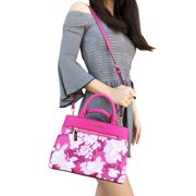 Michael Kors Hailee XS Satchel Small Crossbody Granita Pink White Floral