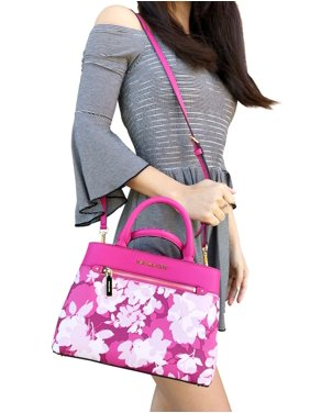 e6cfe341be9b Product Image Michael Kors Hailee XS Satchel Small Crossbody Granita Pink  White Floral