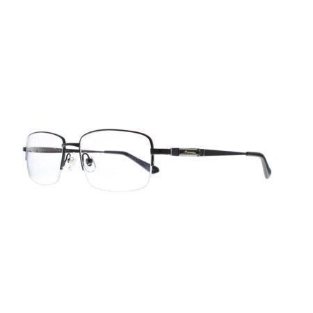 6c932c147f74 Ebe Reading Glasses Black Half Rim Titanium Mens Womens Rectangle ...