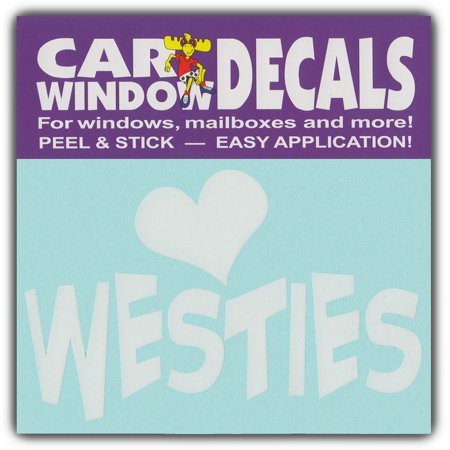 Car Window Decals: I Love Westies | West Highland Terriers | Stickers Cars