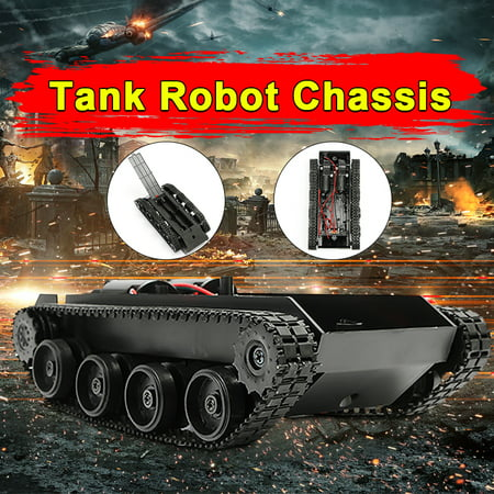 3V-7V DIY Light Shock Absorbed Smart Tank Robot Chassis Car Kit With 130 Motor For Arduino (Commercial Chassis Shock)
