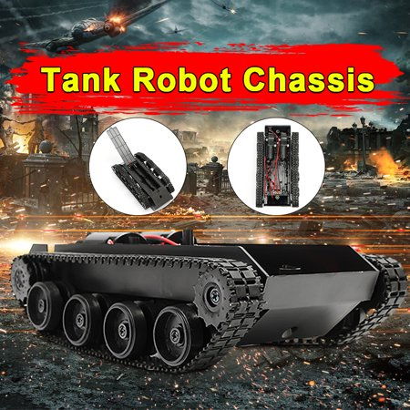 Chassis Top - 3V-7V DIY Light Shock Absorbed Smart Tank Robot Chassis Car Kit With 130 Motor For Arduino SCM