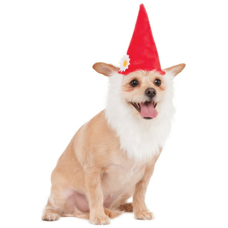 Pet Garden Gnome Troll Dwarf Dog Cat Costume Hat With Beard
