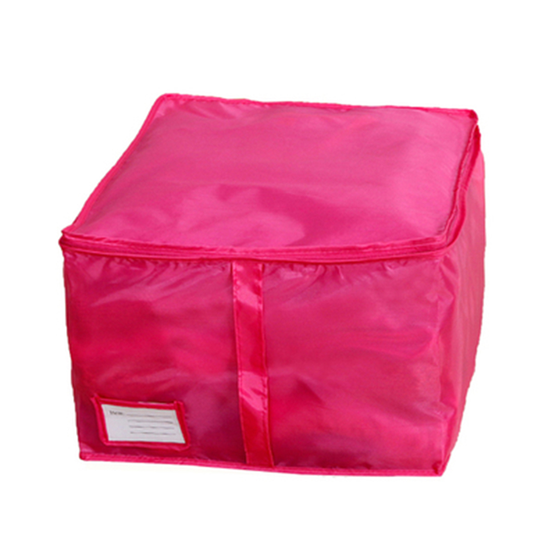 Folding Zippered Clothes Bed Sheet Quilt Duvet Storage Bag Holder Container Blue