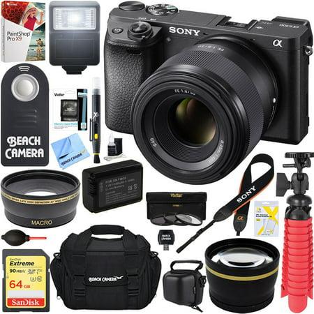 Sony A6300 Alpha 4k Mirrorless Digital Camera With 50mm F1 8 Prime Lens 64gb
