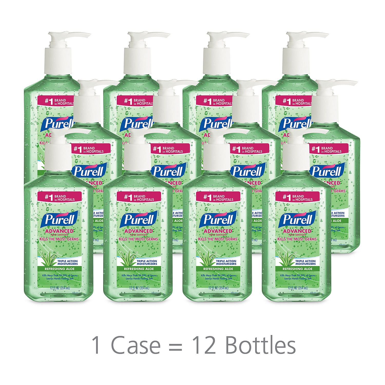 Purell Instant Hand Sanitizer with Aloe, Pump Bottle (12 oz., 12 pk.)