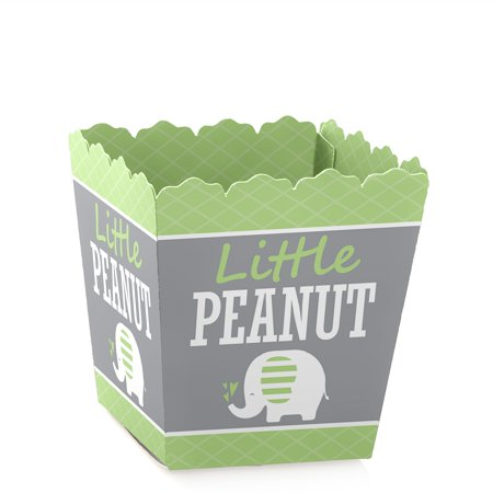 Green Favor Boxes (Green Elephant - Party Mini Favor Boxes - Baby Shower or Birthday Party Treat Candy Boxes - Set of 12)
