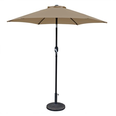 Island Umbrella Bistro 7.5-ft Hexagonal Market Umbrella with Olefin Canopy (Required Island Canopy)