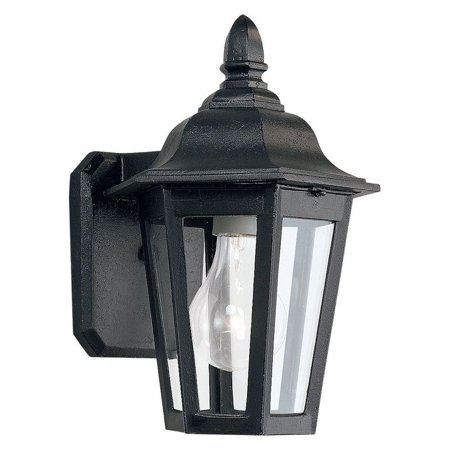 Sea Gull Brentwood Outdoor Hanging Wall Lantern - 10.25H in. Black