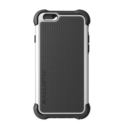 Apple iPhone 6/6S Ballistic Tough Jacket Case with Port Covers - Black/White