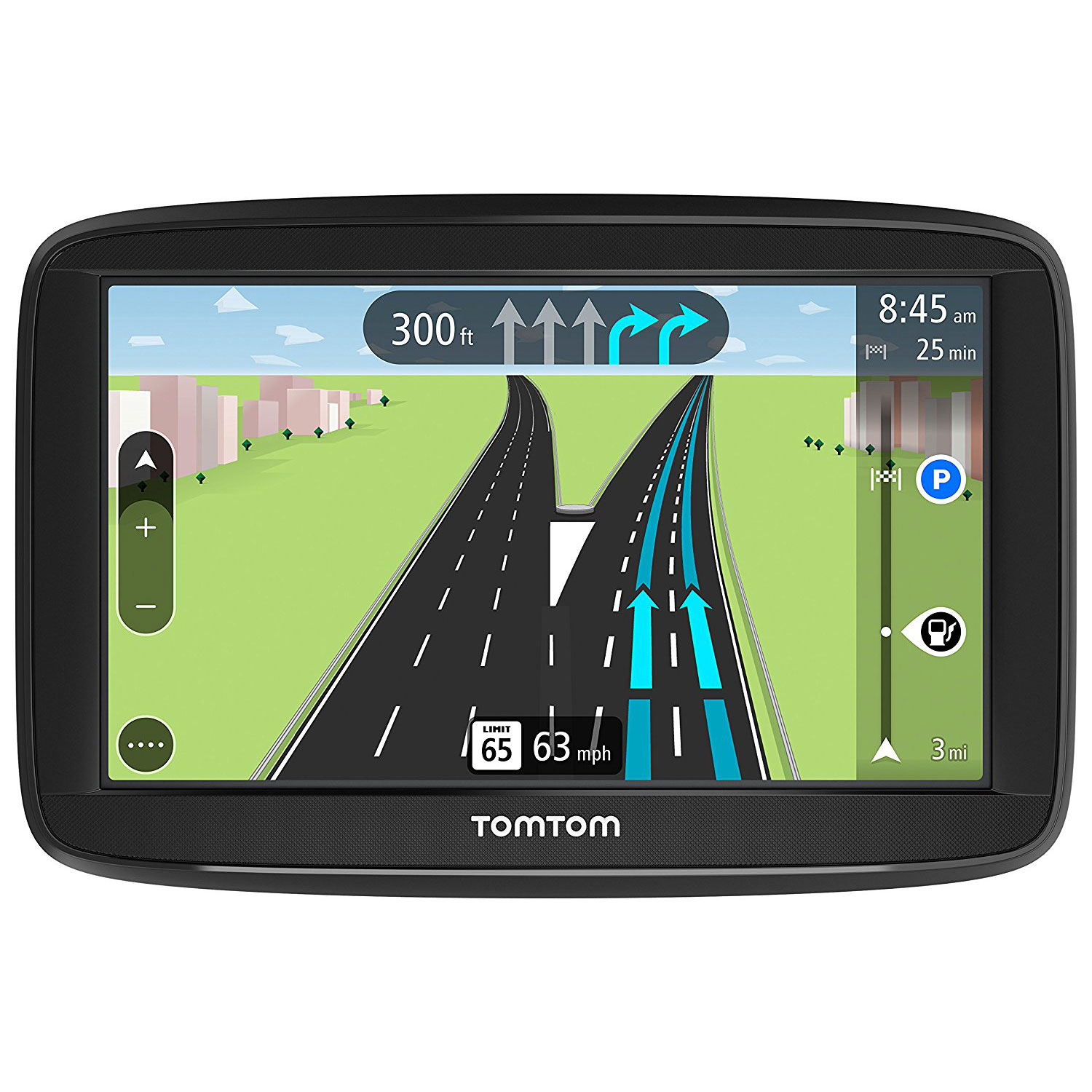 """TomTom VIA 1625M 6"""" Portable Touchscreen Car GPS Navigation Device Lifetime Maps by TomTom"""