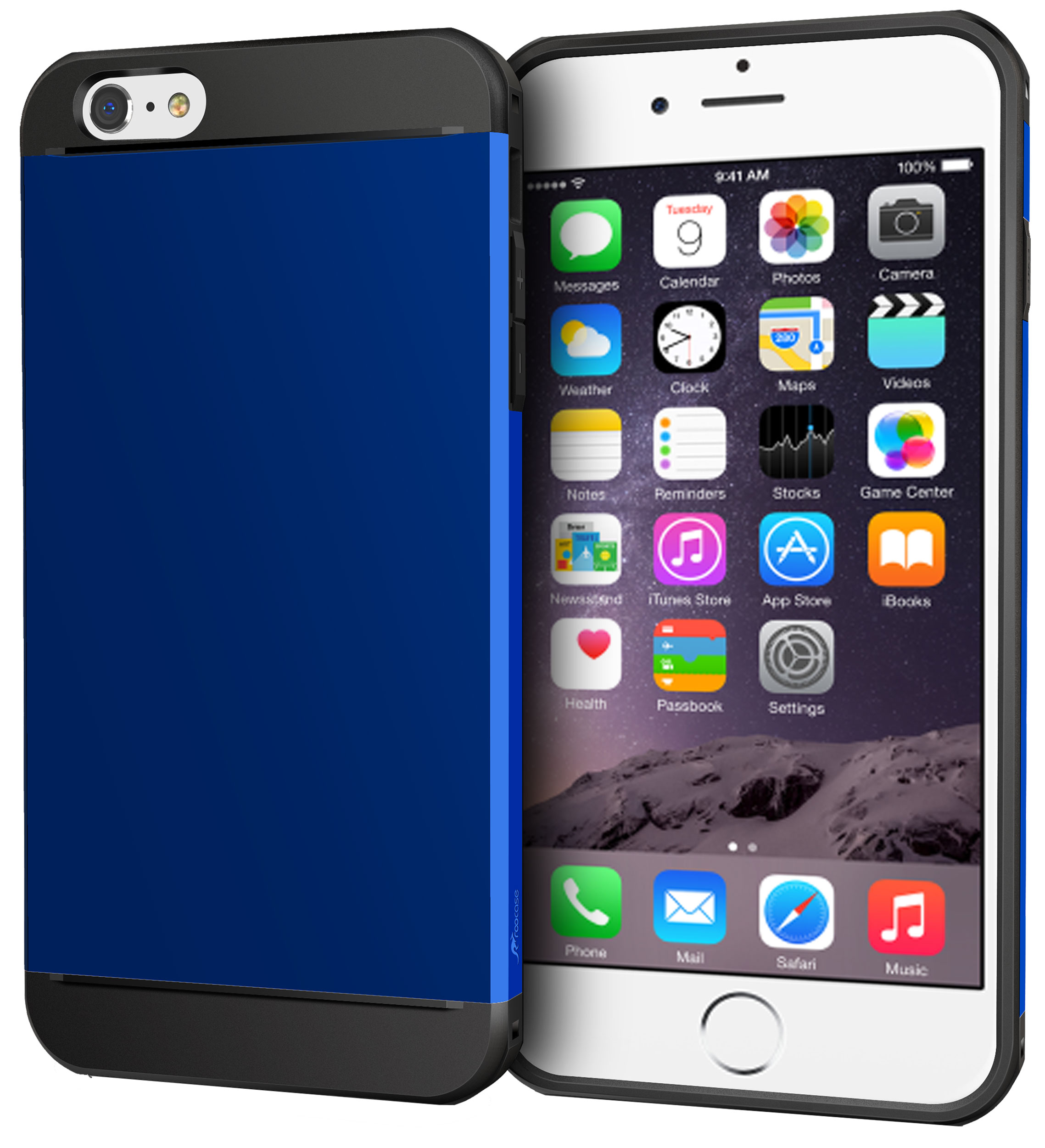 iPhone 6s Plus Case, roocase Slim Fit [EXEC TOUGH] Hybrid PC / TPU Rugged Armor Case for iPhone 6 Plus 5.5-inch