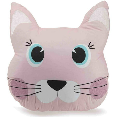 Better Homes and Gardens Cat with Whiskers Youth Pillow, 18