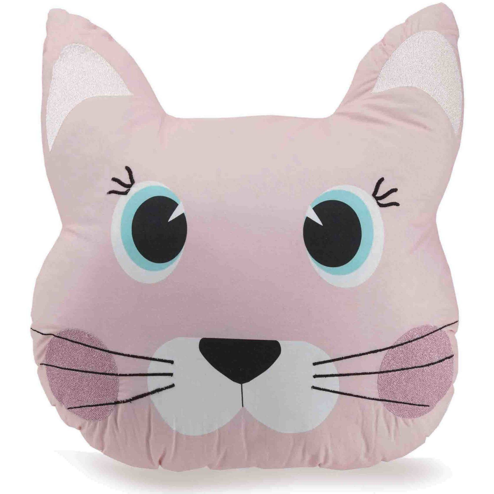 """Better Homes and Gardens Cat with Whiskers Youth Pillow, 18"""" x 18"""""""