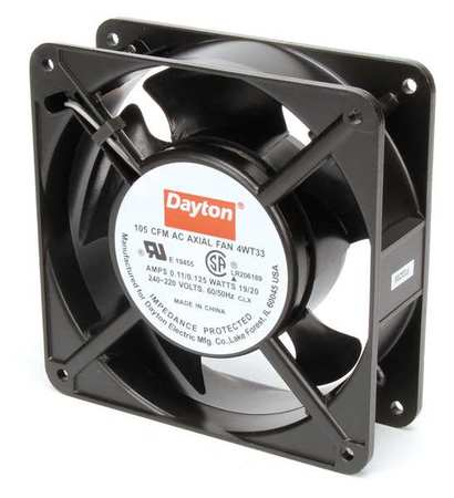 DAYTON 4WT33 Axial Fan, 230VAC, 4-11/16In H, 4-11/16In W