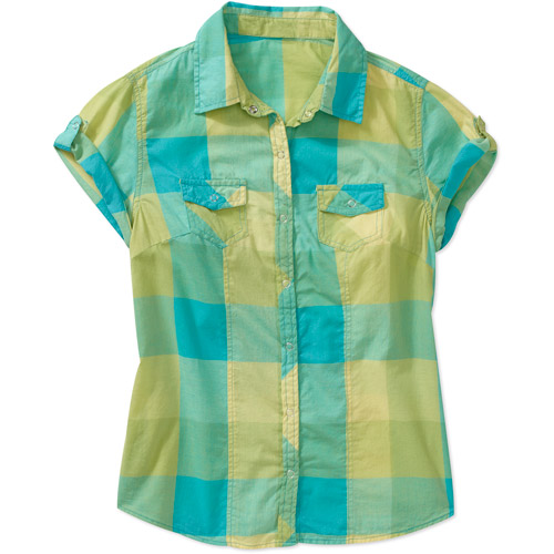 Faded Glory Women's Short Sleeve Woven Campshirt