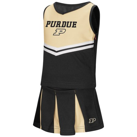 "Purdue Boilermakers NCAA Toddler ""Pom Pom"" 2 Piece Set Cheerleader Outfit"