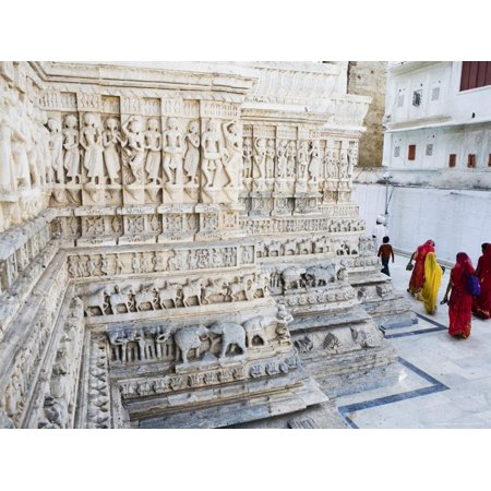 Intricately Carved Marble Walls of Jagdish Jain Temple Print Wall Art By Orien Harvey (Marble Temple)