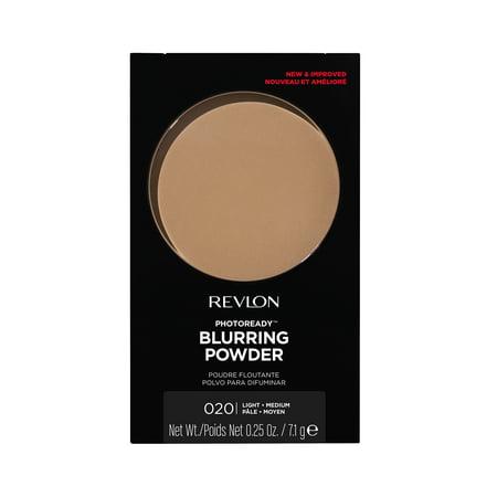 Revlon PhotoReady Powder, Natural Finish, Lightweight and Mattifying Pressed Face Makeup, Oil Free, 020 Light/Medium, 0.25 oz