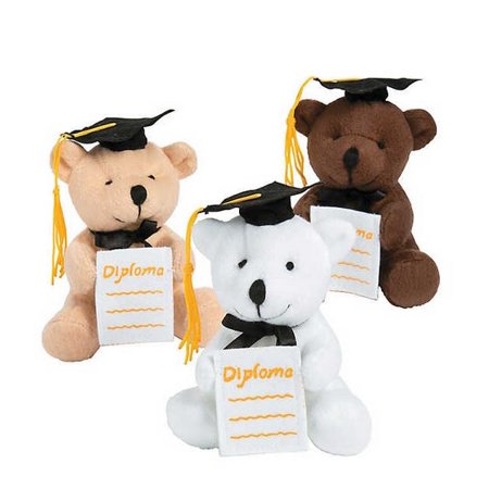 Ring Bearer Stuffed Bear (Graduation Stuffed Bears with Diploma Pocket (Single, Assorted))