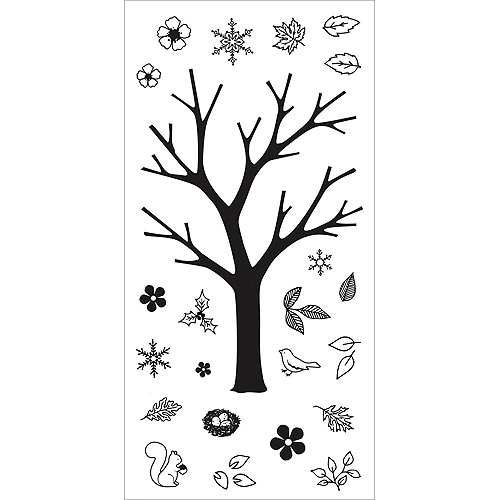 Fiskars 103760-1001 Clear Stamps, 4 by 8-Inch, Build-a-Tree