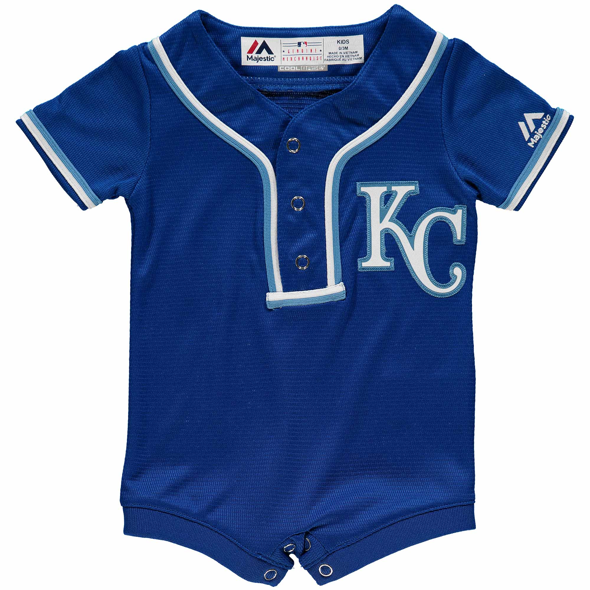 Newborn & Infant Majestic Royal Kansas City Royals Alternate Cool Base Romper Jersey