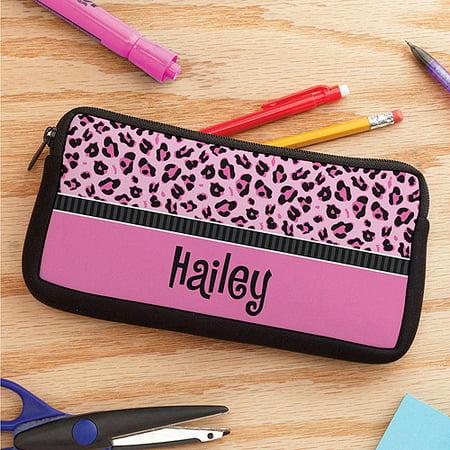 Personalized Sassy Leopard Pencil Case - Personalized Pencil Case