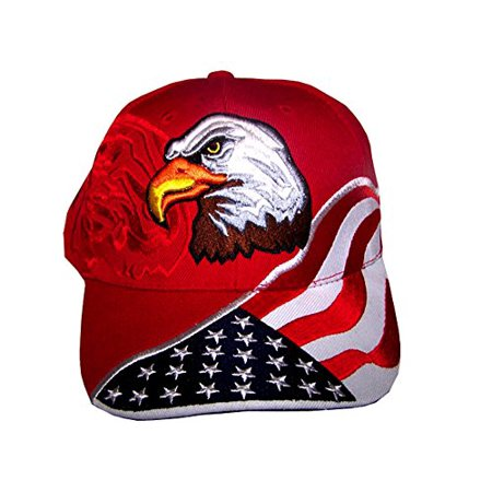 American Flag Hat - USA Eagle Baseball Cap with 100 60b0c49276c3