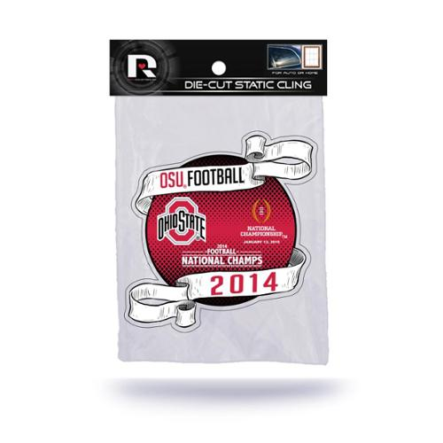 Ohio State Buckeyes Official NCAA 4 inch  Car Window Cling Decal by Rico