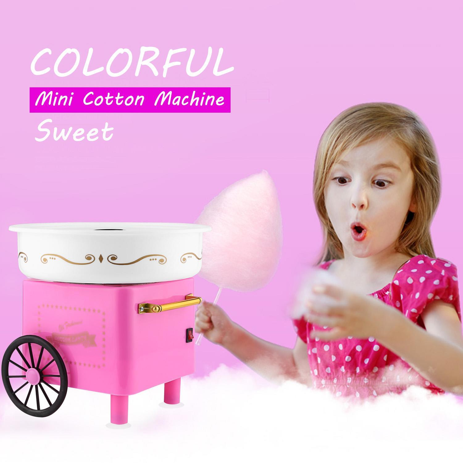 Family Party Pink Stainless Steel Safe Cute Casual Cotton Candy Machine