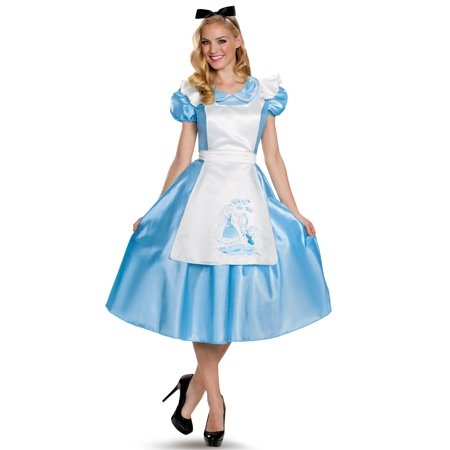 Deluxe Alice Adult Costume - X-Large - Alice In Wonderland Play Costumes