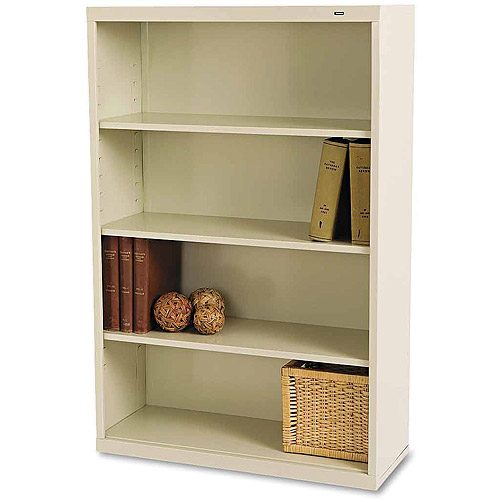 Tennsco 4-Shelf Metal Bookcase