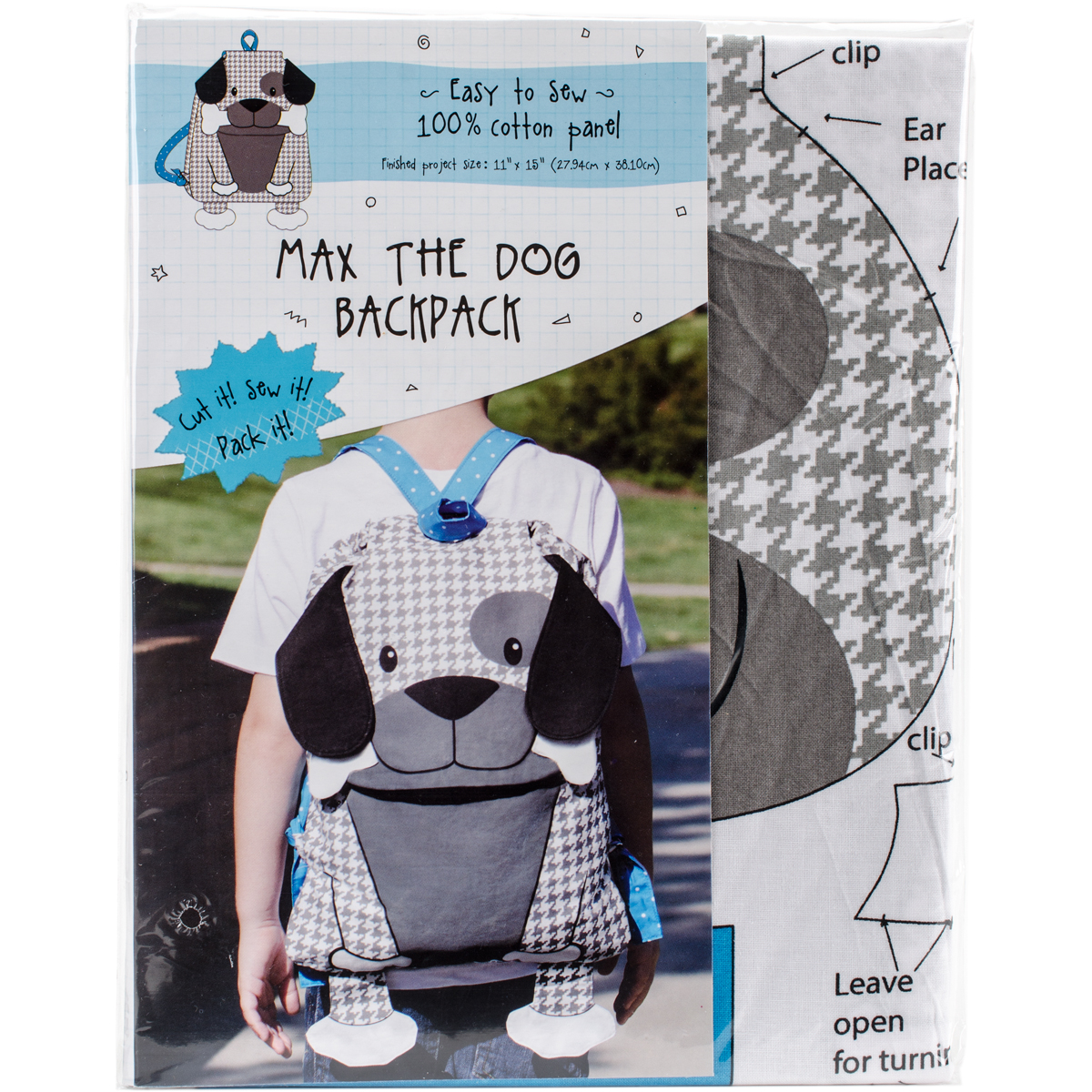 Max The Dog Animal Backpack On Preprinted Fabric-