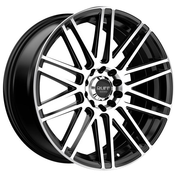 Ruff R367 17x7.5 5x100/5x114.3 +38mm Black/Machined Wheel Rim
