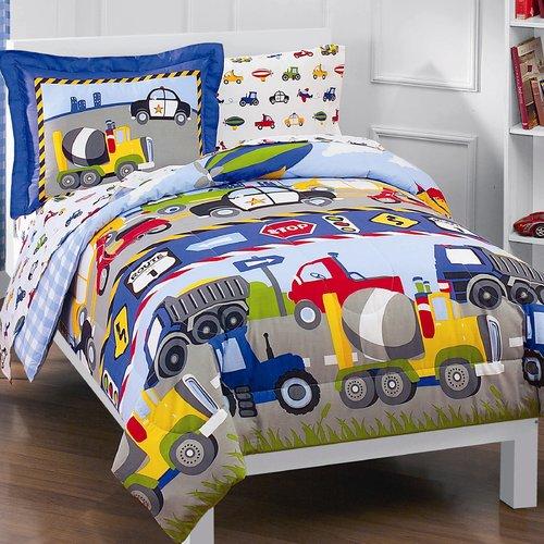Zoomie Kids Kaylie Trans & Trucks 5 Piece Comforter Set