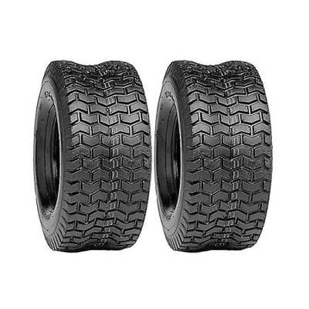 (2) New 15x6.00-6 TURF TIRES 4 Ply Tubeless John Deere Lawn Mower Tractor Rider by The ROP